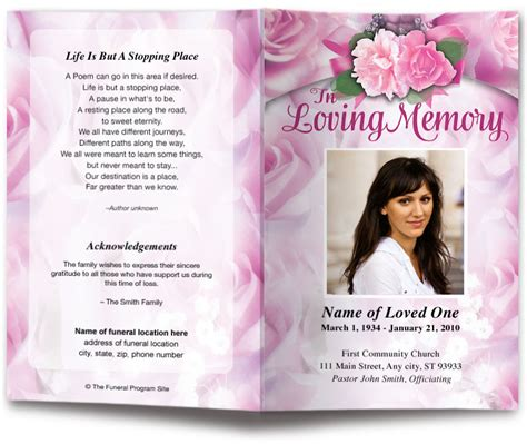 Funeral Biography Template by Funeral Biography Template Choice Image Template Design