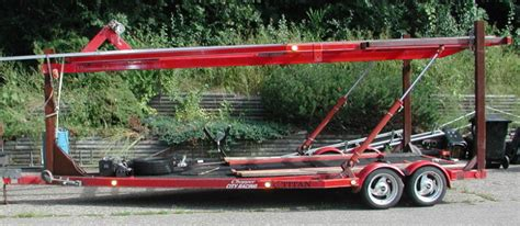 car and boat trailer double decker collector boats trailers