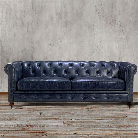 Chesterfield Sofa Restoration Chesterfield Restoration Industrial Style Hardware Leather Sofa Gorgeous Ebay