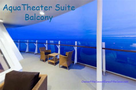 two bedroom aquatheater suite with balcony on harmony of aquatheater suite review on the oasis of the seas and