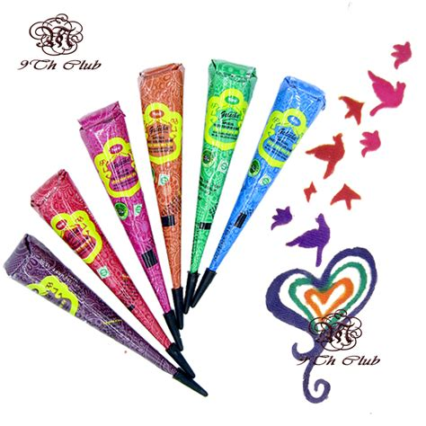 tattoo ointment india aliexpress com buy 6pcs lot colored golecha henna tattoo