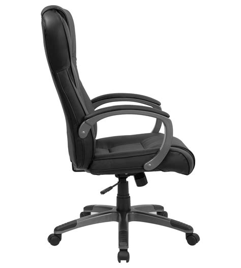 plush leather office chair formfit plush executive black leather office chair