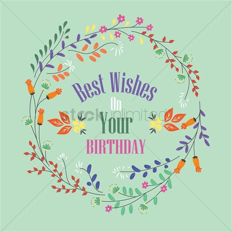 best wishes for you best wishes on your birthday label vector image 1827480