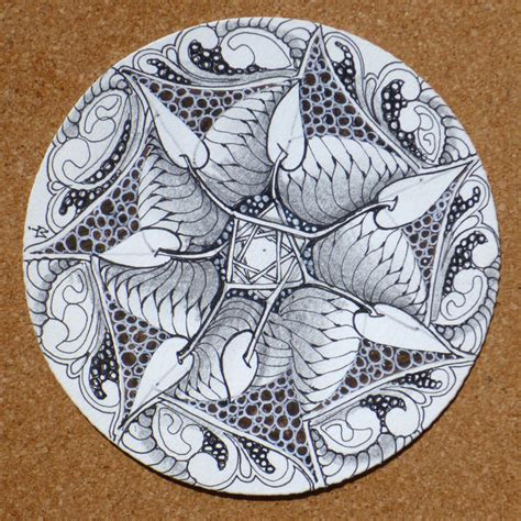 zentangle pattern blog zentangle round and round
