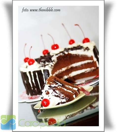 membuat bolu black forest cara membuat kue black forest resep masakan carapedia