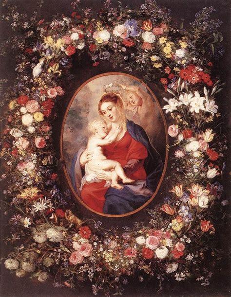 Vase Of Flowers Jan Davidsz De Heem File Peter Paul Rubens The Virgin And Child In A Garland