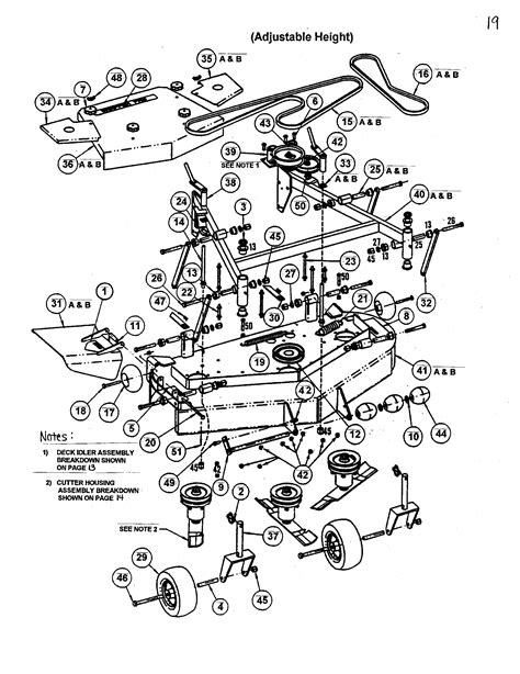 snapper lawn mower parts diagram 48 quot 52 quot mower deck diagram parts list for model spa520