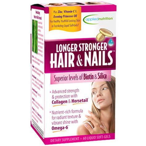 supplement for hair and nails longer stronger hair nails supplement 60ct walmart