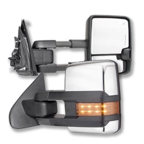 tow mirrors gmc 2500hd gmc 2500hd 2015 2016 chrome towing mirrors led