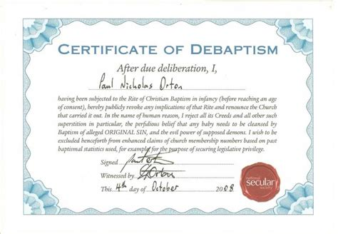 catholic baptism certificate template baptism certificate exles