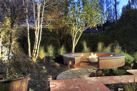drought tolerant backyard design custom stained