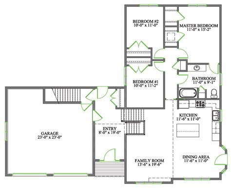 Side Split House Plans | confederation home plan kent building supplies