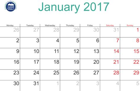 january calendar template 2017 calendar january printable related keywords