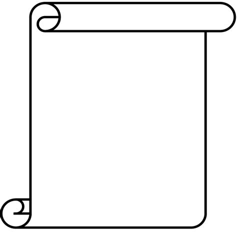 scroll outline template blank scroll template clipart best
