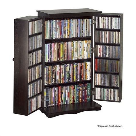 buy dvd storage cabinet 40 quot cd dvd media storage cabinet in cherry cd 612c