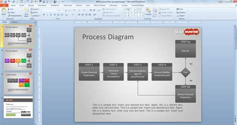 Free Process Flow Diagram Template For Powerpoint Powerpoint Process Flow Template Free