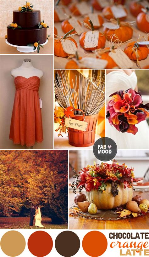 orange wedding colors autumn wedding color palette brown orange wedding colors