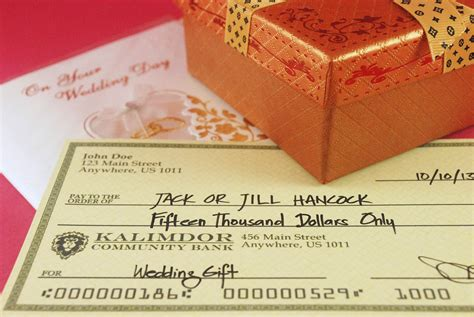 Wedding Gift Or Check how to write a check as a wedding gift 4 steps