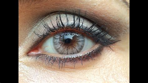new color contacts desio beige coloured contact lenses review with