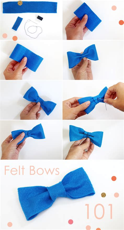 How To Make A Simple Paper Bow Tie - diy felt bows bow ties pepper design