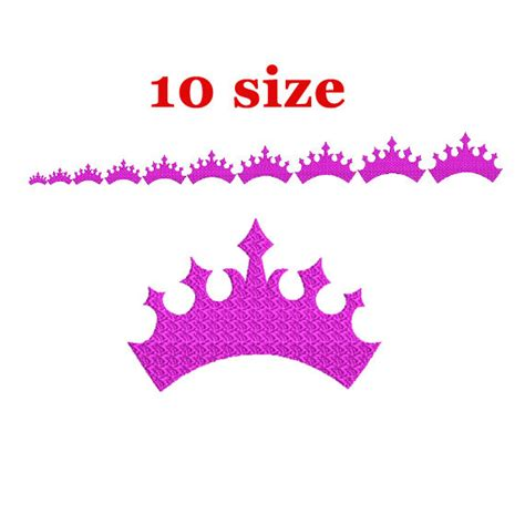 Casing Mini Embroidery Crown crown embroidery design machine embroidery design tiara