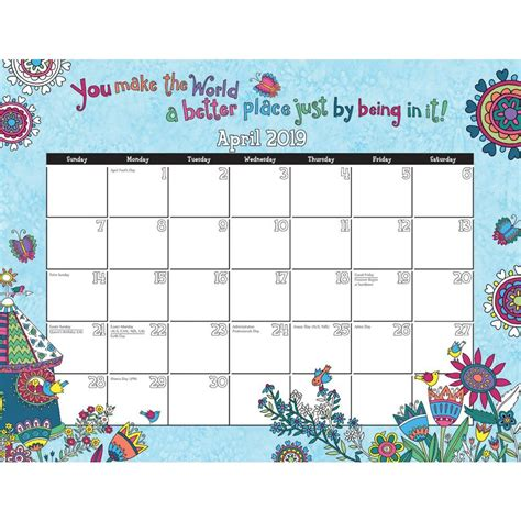 cheerful journey coloring  desk pad
