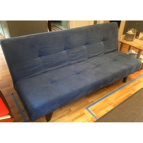 ikea balkarp sleeper sofa ikea balkarp sofa bed in blue aptdeco