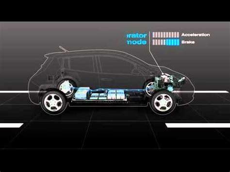 how cars run 2010 nissan armada regenerative braking nissan leaf regenerative braking system youtube