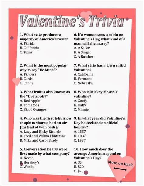 valentines day trivia villa serena retirement community s day presents