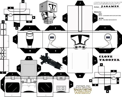 printable foldable star wars toys clone trooper cubeecraft by jagamen deviantart com on