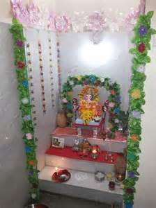 decoration of pooja room at home ganesh decoration and room decorations on pinterest