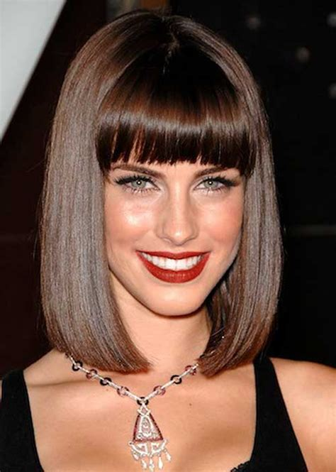 bob hairstyles with bangs 25 long bob with bangs bob hairstyles 2018 short
