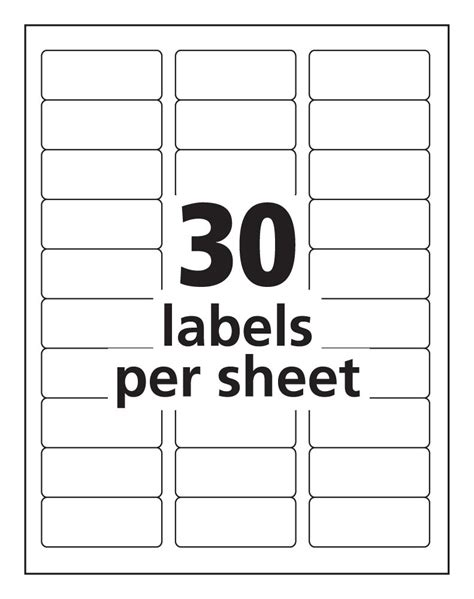 labels 8 per sheet template word avery 30 label template