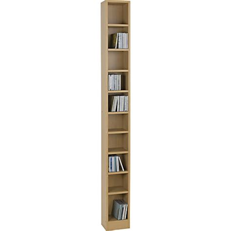 dvd storage tower maine tall dvd and cd media storage tower beech effect