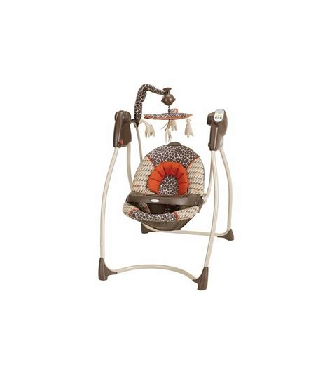 plug in swing graco lovin hug swing with plug in sahara