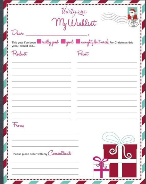 6 best images of thirty one printable wish list thirty