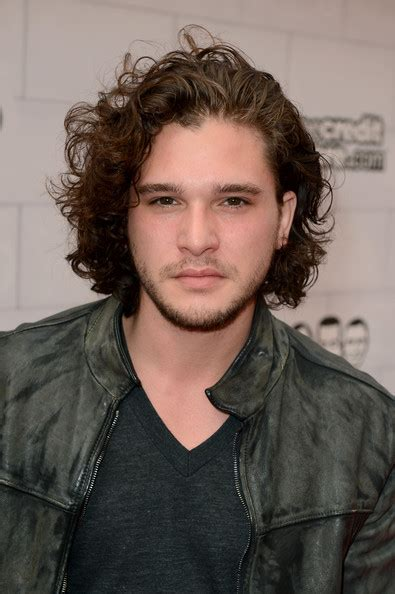 Hair Style Kit Shoes by Kit Harington Medium Curls Shoulder Length Hairstyles