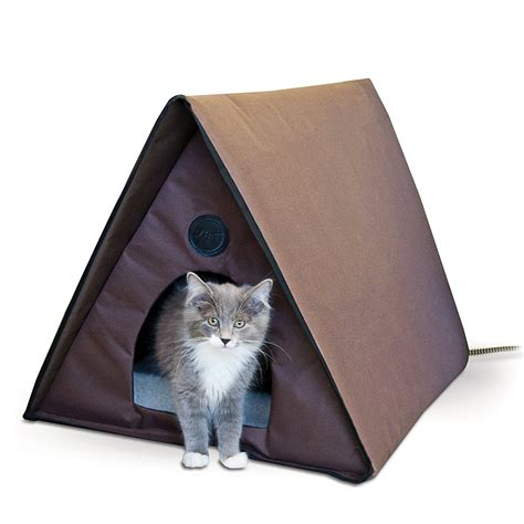 insulated outdoor cat house large heated cat house outdoor warming mat heater shelter bed pet dog cushion ebay