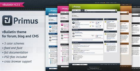 themeforest forum primus a theme for vbulletin 4 2 suite by pixelgoose