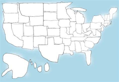 Drawing 50 States can you draw all 50 states from memory
