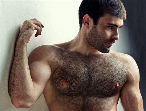 Hairy men in the nude