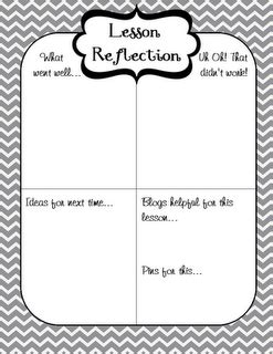 printable reflective journal lesson reflection freebie by www