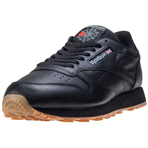 reebok classic sneakers reebok classic leather mens trainers black gum new shoes
