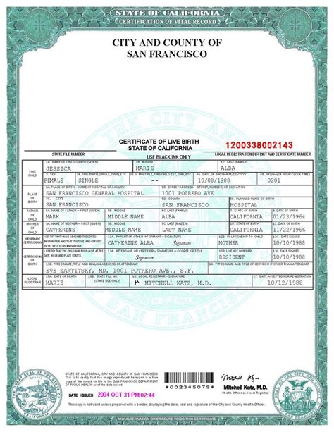 birth certificate template san francisco birth certificate template world of stage