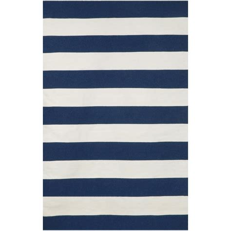 Navy Stripe Outdoor Rug Sorrento Navy Rugby Stripe Outdoor Rug On Sale Dfohome