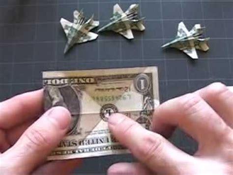 Origami F 18 - dollar origami f 18 steps 1 4
