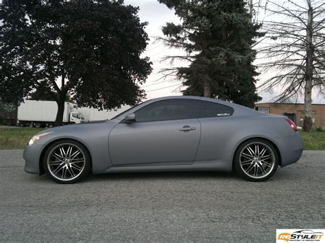 matte grey matte grey metallic infiniti g37 vehicle customization
