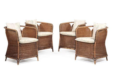 poltrone di vimini salottino in vimini composto da divano due sedie quattro