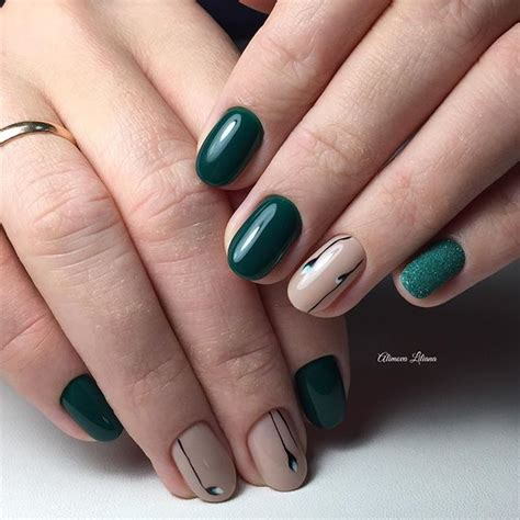 easy nail art with green and black nail art 2813 best nail art designs gallery