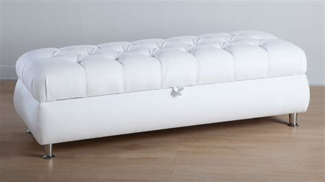 Ottoman Size White Ottoman Andalucia Modern White Leather Ottoman Set Of 2 Andaluca Modern White